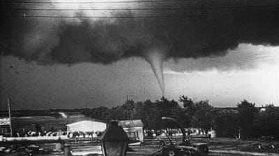 Spring tornadoes hit Texas on Wednesday. Here a twister touches down in Kansas 54 years ago. [Getty Images]
