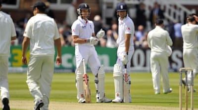 Jonathan Trott top-scored for England with 39 [AFP]
