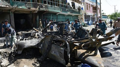 Suicide bomber targets troops in Afghanistan