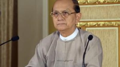 President Thein Sein is the first leader of the formerly military-led nation to visit Washington in half a century [AP]