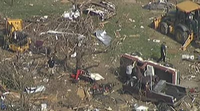 Deadly tornado rips through Texas