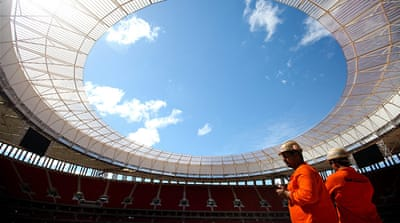 Brazil unveils $750m national stadium