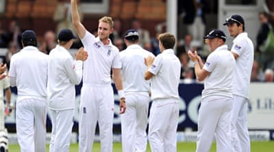 The Black Caps were dismissed for just 68 in two hours as Broad took seven wickets for 44 runs in 11 overs  [AFP]
