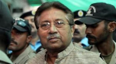 Former Pakistani president Pervez Musharraf, shown here in a file photo, was granted bail on Monday [AFP]