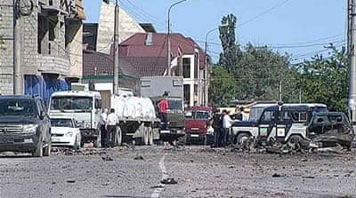 Most of the wounded were caught by the second of Monday's two explosions in Makhachkala [AFP]