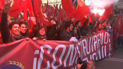 Chile protesters call for education reform