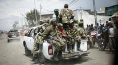 Congolese government troops fight M23 rebels