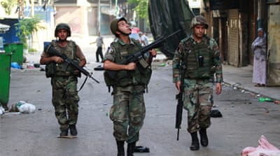 Lebanese army soldiers were deployed to Tripoli last month, but fighting continues [Reuters]