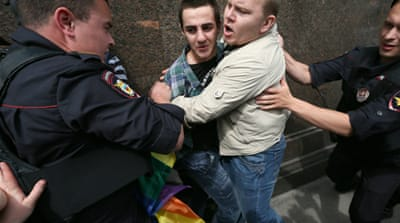 Russia's parliament has given preliminary approval to a ban on what it calls homosexual propaganda [EPA]
