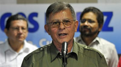 "FARC commander Rodrigo Granda called Sutay a US ""mercenary"" and said he had ""suspicious"" belongings [EPA]"