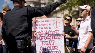 Anti-Muslim march held in UK over killing