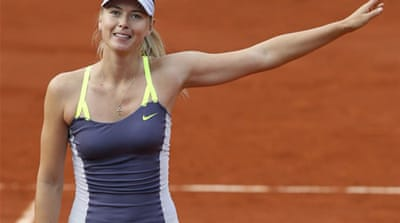 Sharapova surrendered just eight points on serve in her 54 minute victory [AFP]
