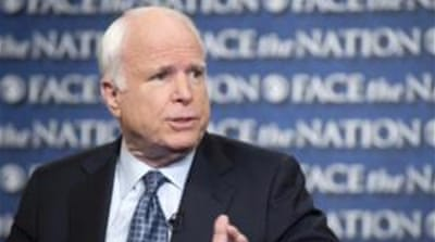 "McCain said that the US government should not ""support removal of freely elected governments"" [AP]"