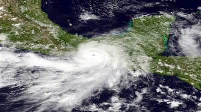 The US hurricane center warned that Barbara could spark deadly floods and mudslides in Mexico [AFP]