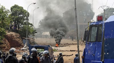 Protests in Guinea have turned into pitched battles between demonstrators and police [Reuters]