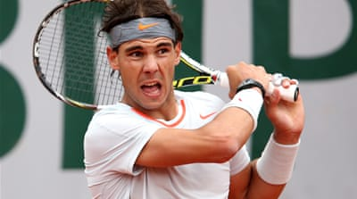 Third-seed Nadal, who is chasing an eighth Paris title, defeated Slovakia's Martin Klizan in the cold Parisian conditions [AFP]