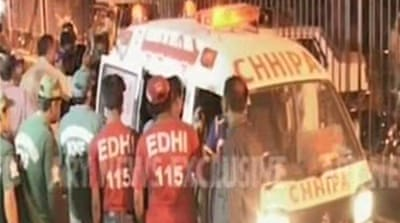 Twin blasts hit election office in Karachi