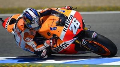 Pedrosa edged pole leader Lorenzo with 22 laps to go and steadily pulled ahead for victory [Reuters]