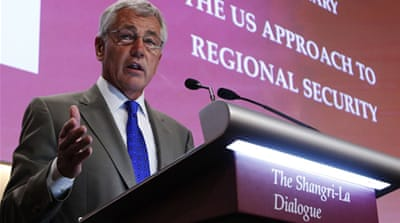 US Secretary of State Hagel says the US is determined to work with China to establish appropriate standards [Reuters]