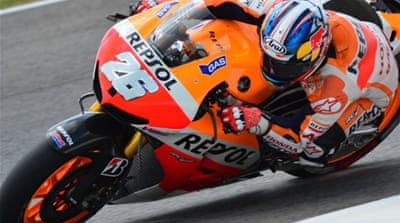 The 27-year-old Honda rider edged Spain's world champion Jorge Lorenzo on the last lap in qualifying [AFP]