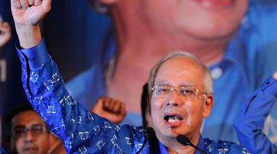Malaysia's Prime Minister Najib Razak, right, has pledged to end pervasive high-level graft [AFP]