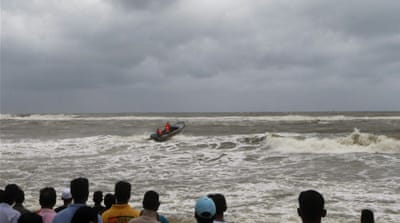 Naval boats and helicopters scoured seas off Sri Lanka on Monday for dozens of people still missing [AP]
