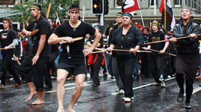 Activists staged a Hikoi march when a bid for Maori-elected seats on Auckland's council was rejected [GALLO/GETTY]