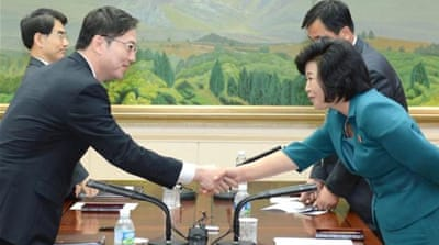 The talks between delegates representing North and South Korea lasted more than 16 hours  [EPA]