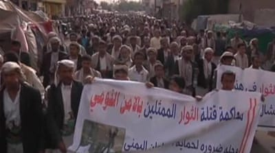 Yemen's Houthis protest for more rights