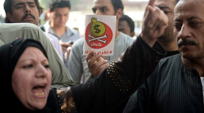 A new poll finds Egyptians favour economic stability over democracy [AFP/Getty]