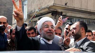 Reformist candidate Hassan Rouhani won Iran's presidential poll with more than 50 percent of votes [EPA]