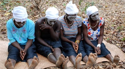 Girls from Koumonin village, the first in Guinea to ban female genital cutting [Mary Matheson/Plan International]