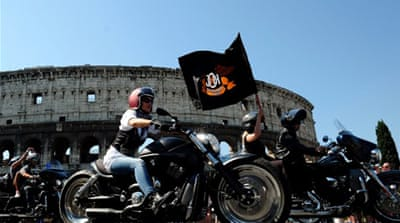 Pope blesses thousands of Harley bikers