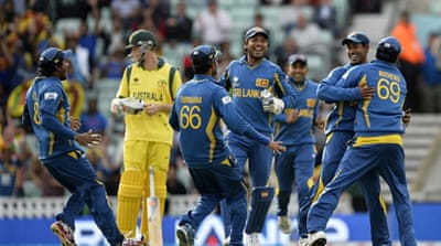 The Sri Lankans will play Group B winners India in the last four on Thursday [Reuters]
