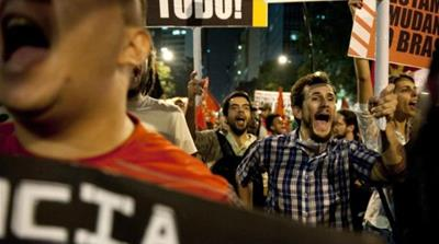 Planned hikes in bus and subway fares in Brazil sparked mass protests across the country [AP]