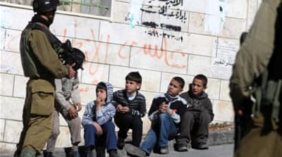 A new UN report has found that 7,000 children have been detained by Israeli forces since 2002 [AFP]