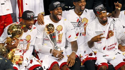Miami Heat claims its third NBA title after winning the championship in 2006 and 2012 [Reuters]