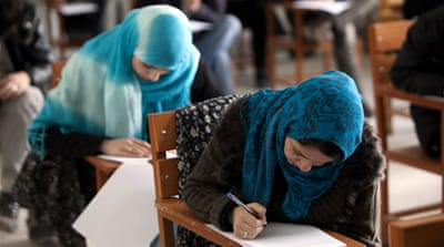 Afghan students are well educated, but many seek work overseas after threats and a lack of jobs [GALLO/GETTY]
