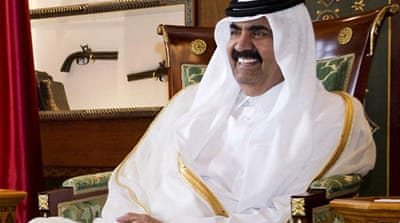 Sheikh Hamad bin Khalifa Al Thani handed over power to his son after 18 years in power [Reuters]