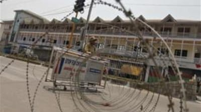 Razor wires were laid across roads in the key city of Srinagar to quell rallies called by separatists [File Photo: Reuters]