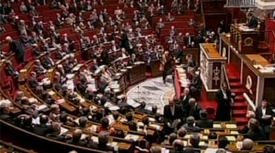 Legislators who voted against the bill on Tuesday included members of Hollande's own Socialist party [AP]