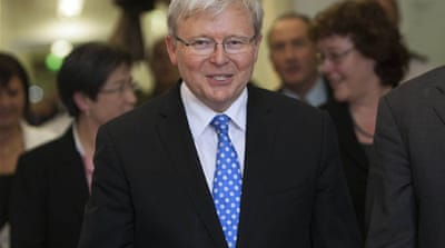 Kevin Rudd sworn in as new Australia PM