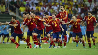 The victory extended Spain's record unbeaten run in competitive matches to 29 [AFP]