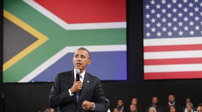 Obama pays tribute to personal hero Mandela