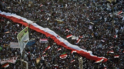 American killed in Egypt rival demonstrations