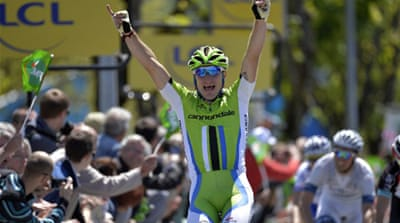 Viviani said his participation in last month's Giro d'Italia had given him the edge over his rivals [AFP]