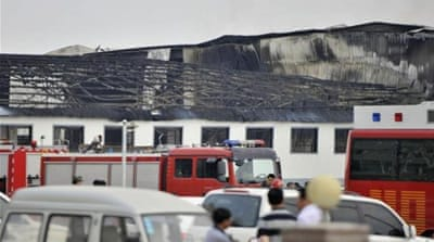 Scores killed in China poultry farm blaze