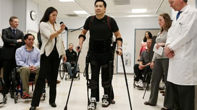 Developed by Ekso Bionics, the device is a wearable, battery-powered robotic exoskeleton [Getty Images]