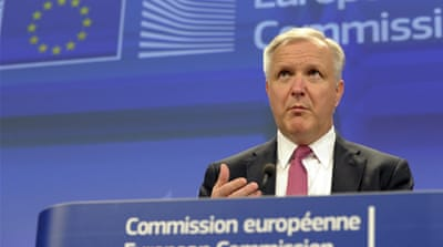 EU Commissioner for Economic Affairs Olli Rehn says Latvia has been successful in overcoming challenges [Reuters]
