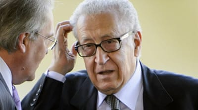 Brahimi is in Geneva with officials from the UN, US and Russia to discuss the plan for a Syria peace conference [AFP]